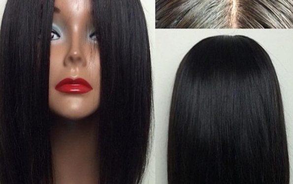 Middle Straight bob loace Human Hair