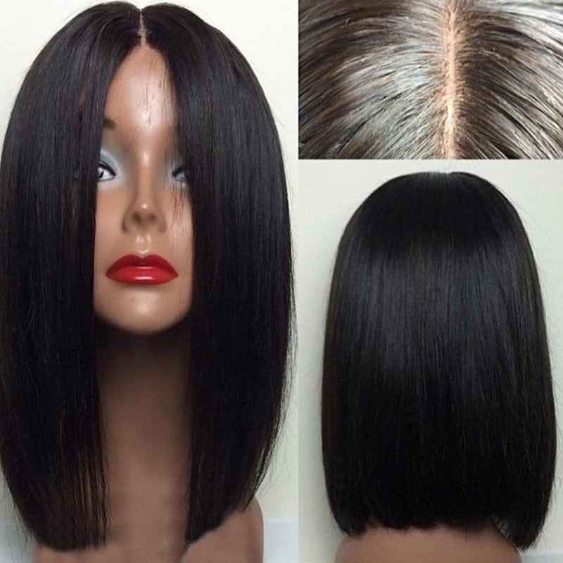 Middle Straight bob loace Human Hair