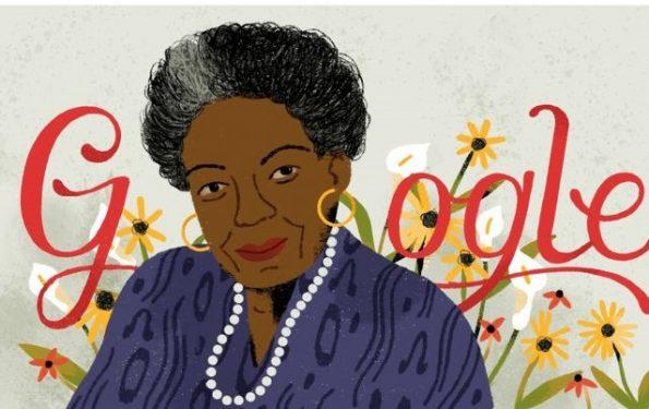 Google in honour of Maya Angelou