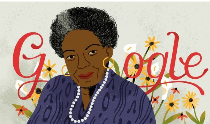 Google in honour of Maya Angelou