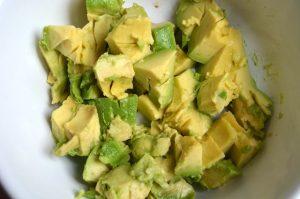 Avocado Klein geschnitten