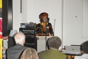 Antonia Mundi Moderatorin des 20 jahre Africa Postive-Events